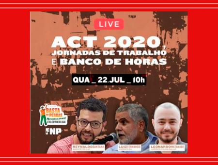 Live: ACT 2020, Jornada de Trabalho e Banco de Horas